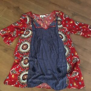 💗3 for 12💗Umgee Small EUC Tunic with tassels